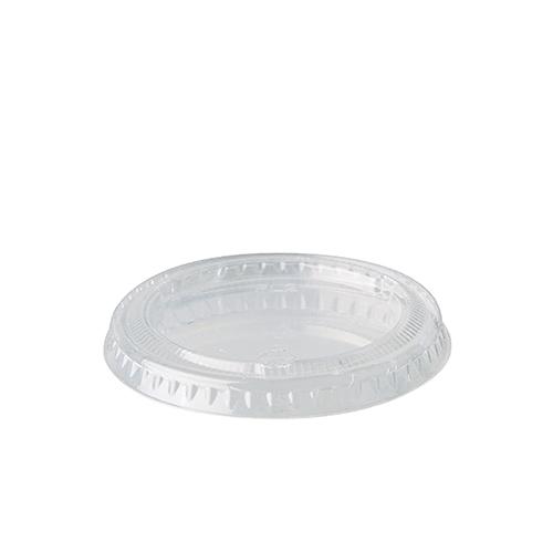 """10 x 50 Deckel für Portionsbecher, PLA """"pure"""" rund Ø 6 cm transparent"""
