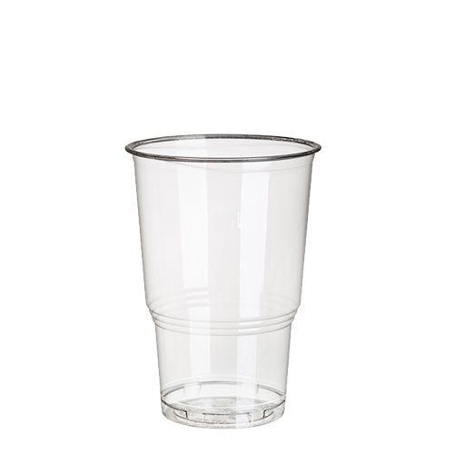 """12 x 25 Kaltgetränkebecher, PLA """"pure"""" 0,25 l Ø 7,8 cm · 11 cm glasklar mit Schaumrand"""