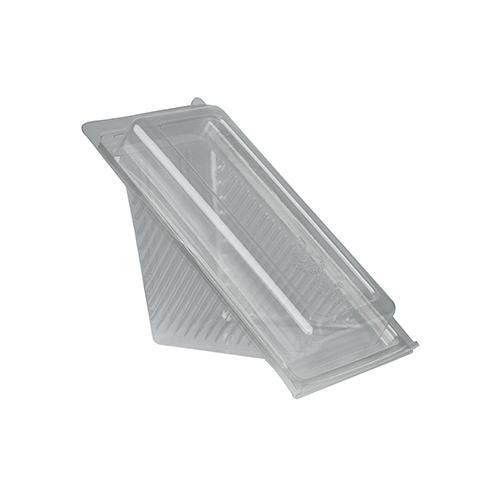 """10 * 50 Sandwichboxen mit Klappdeckeln, PLA """"pure"""" eckig 8,8 cm x 8,5 cm x 16,7 cm transparent klein"""