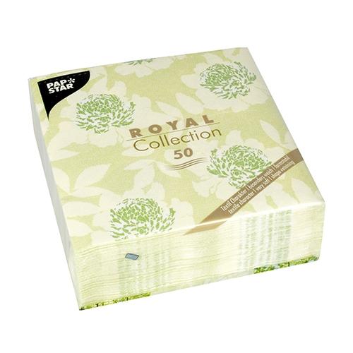 """Servietten """"ROYAL Collection"""" 1/4-Falz 40 cm x 40 cm grün """"Adele"""""""